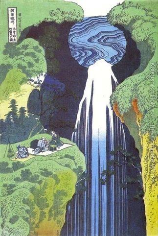 Amida-Waterfall-on-the-Kisokaido-Road-(Kisoji-no-oku-Amidagataki)