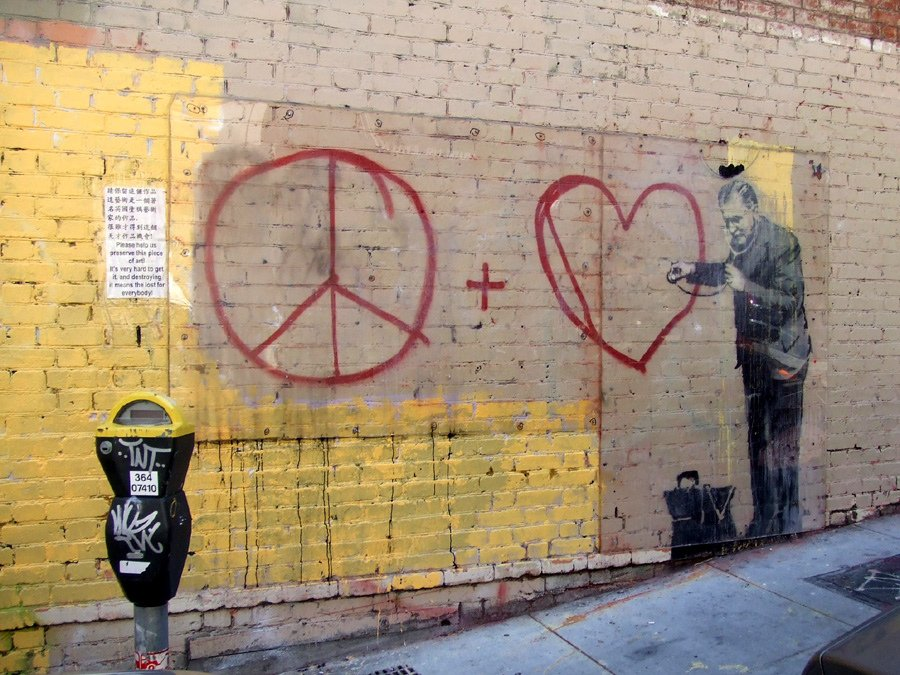 banksy-painted-for-peace-and-love-in-san-francisco-in-2010