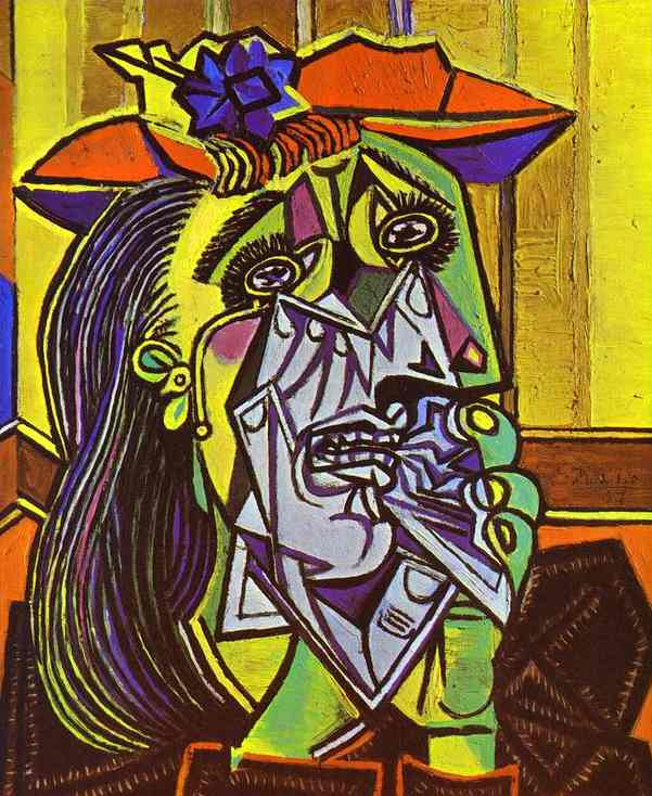 PabloPicasso-Weeping-Woman-with-Handkerchief-1937