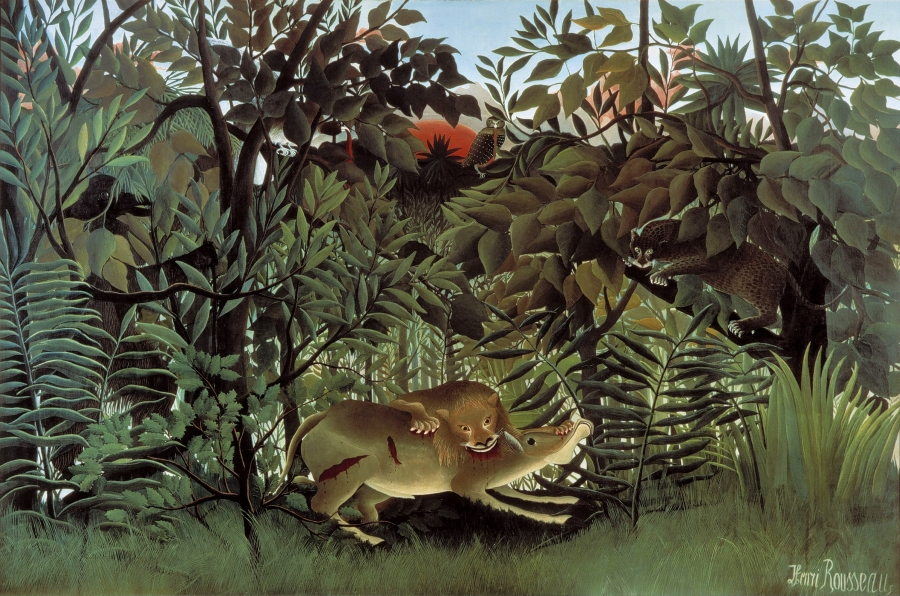 rousseau-hungry-lion